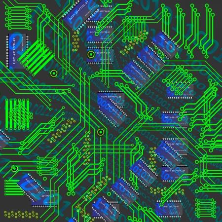 규소: 칩, 마이크로, 실리콘 칩, 마이크로 칩 일러스트