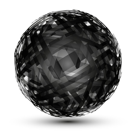 hollow: Abstract hollow sphere, chip, microcircuit, silicon chip, microchip