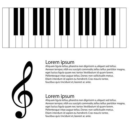 forte:  piano keys Illustration