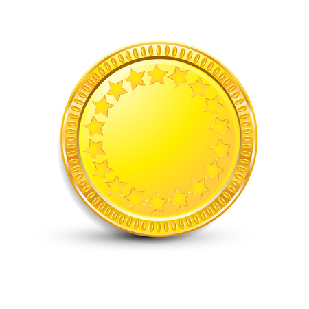 golden coins: COINS Illustration