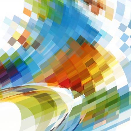 colored background of squares Ilustração