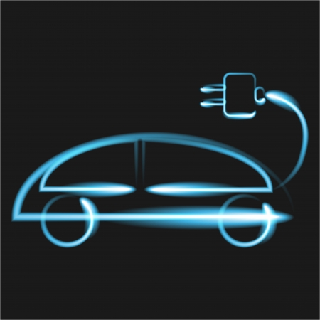 electrical: Electrical car Illustration
