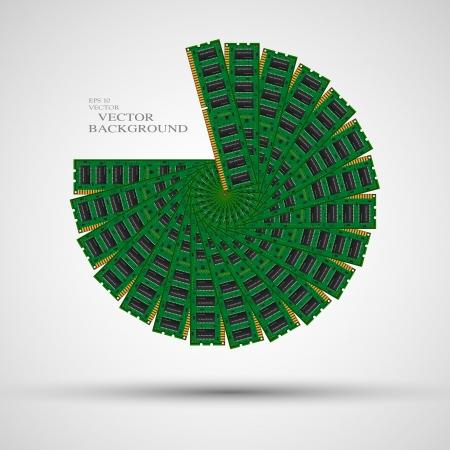 megabytes: computer memory Illustration