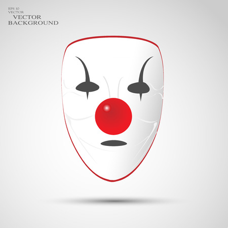 mask, clown Vector
