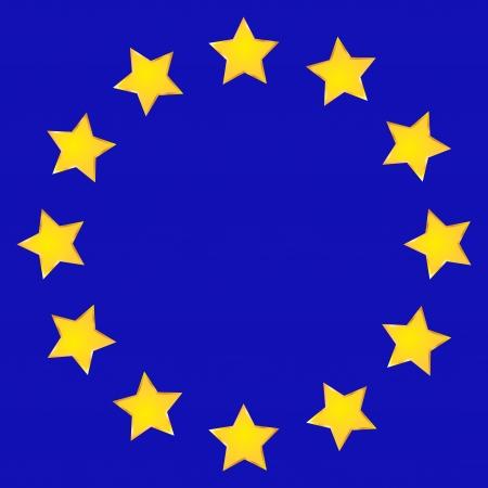 EU flag handdrawn Illustration
