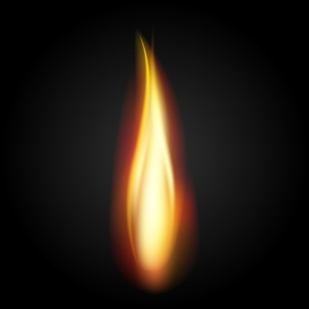 illustration of burning fire flame on black background Vector