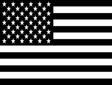 black flag: Black and white USA flag