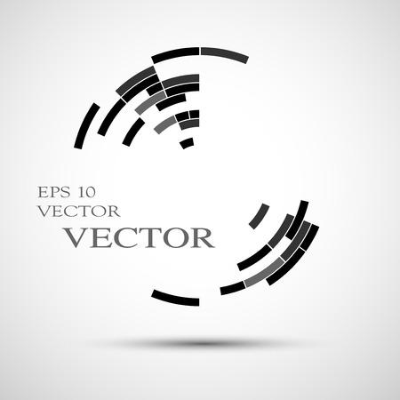 Circular abstract lines, Vector Illustration
