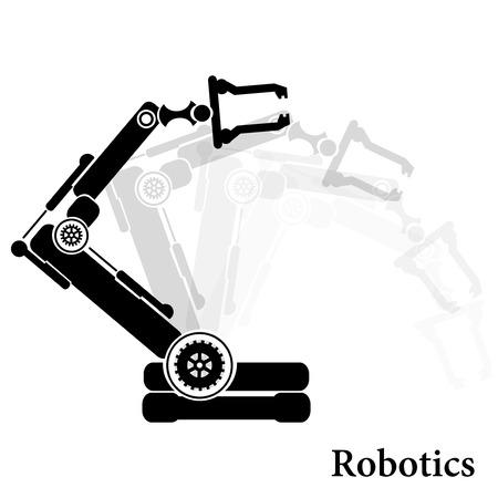 Vector robotic symbol Illustration