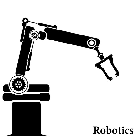 Vector robotic symbol Vector
