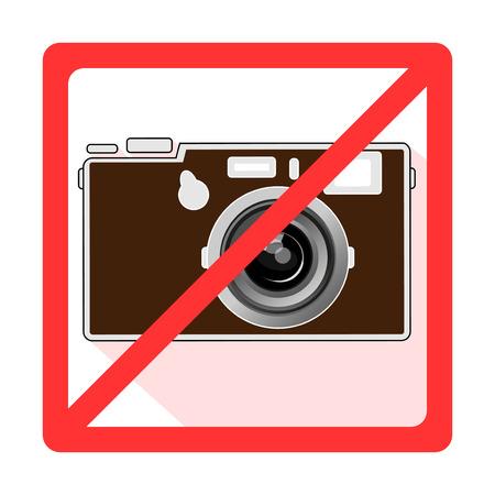 Forbidden sign camcorder, camera app Vector
