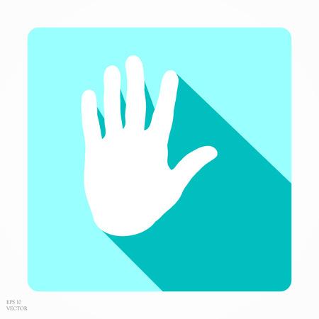 hand print: App hand print icon