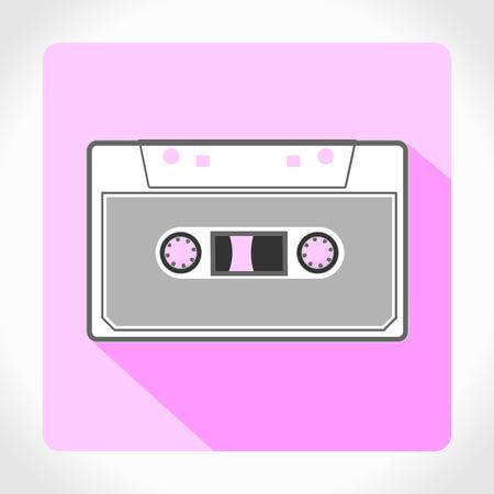 app icon cassette Vector