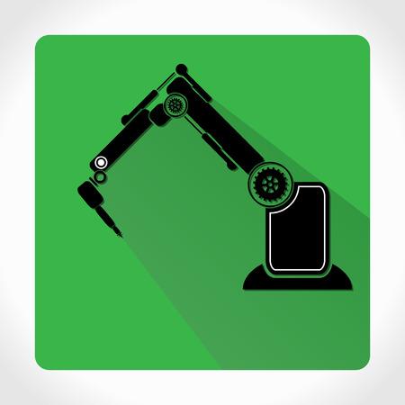 factory automation: robotic symbol app icon