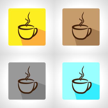 tasse caf�: tasse de caf� app ic�ne Illustration