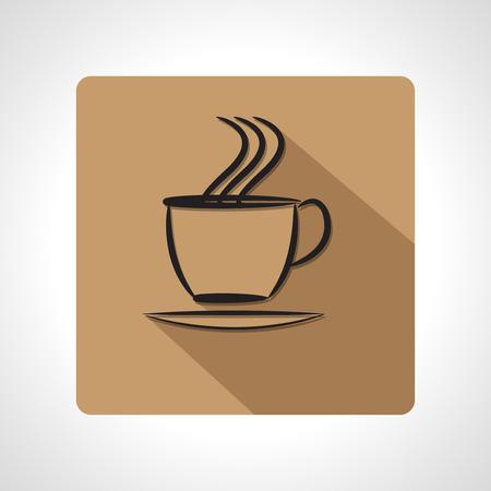 tasse caf�: tasse de caf� ic�ne de l'application Illustration