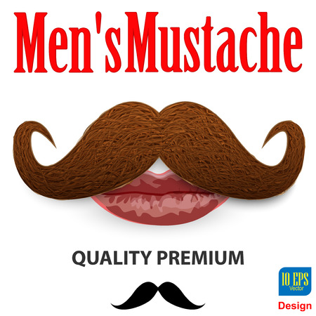 hair mask: mustaches illustration