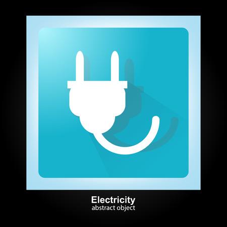 Power energy symbol. Electrical plug. Illustration
