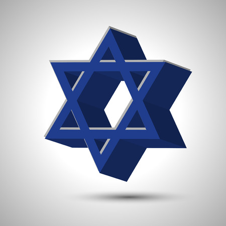 jews: star of David illustration  Illustration