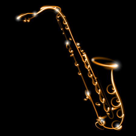 jazz music: Saxophone Illustration