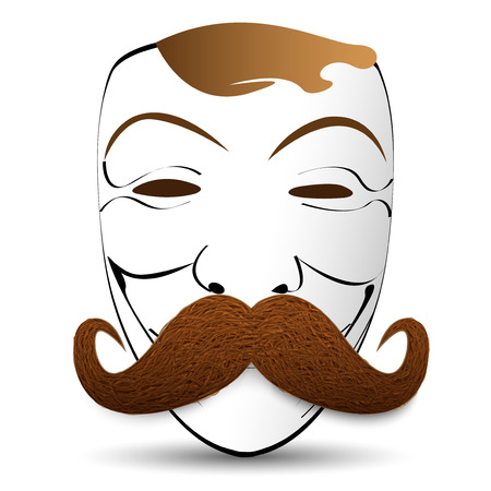 fake mask: mask with a mustache
