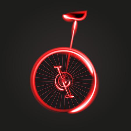 the mono bike Vector