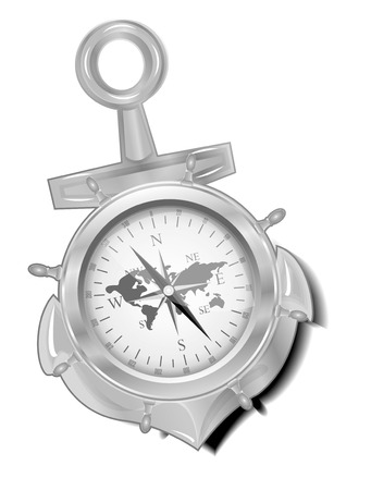 direction magnet: compass Illustration