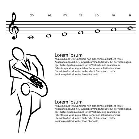 saxophonist: saxophone saxophonist Illustration