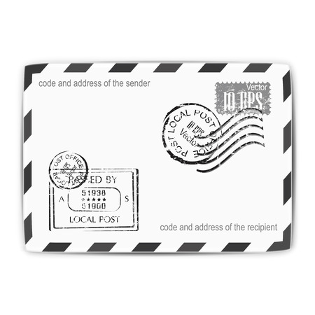 poststempel: Mail, Umschlag, Briefpost