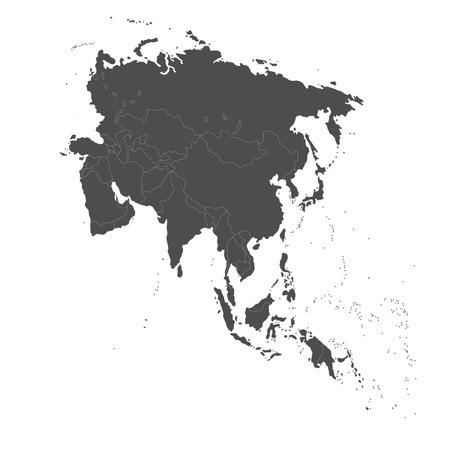 Asia, mapa político Foto de archivo