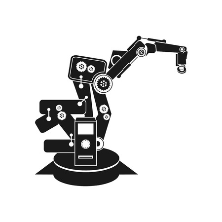 factory automation: robotics Illustration