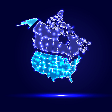 usa map: Canada, USA