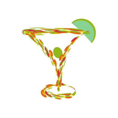 glass reflection: martini app icon Illustration
