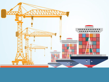 containers: ship containers Illustration