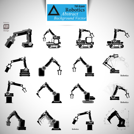 robot hand: robotics, the robot hand, the robot icon