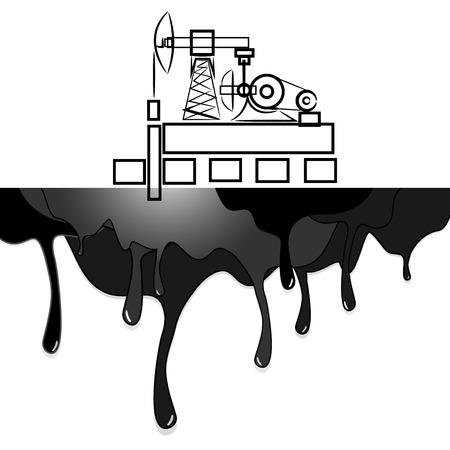 oil well: oil, oil well Illustration