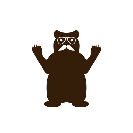 bear with glasses and mustache