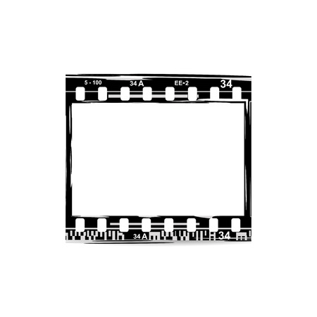 The film, movie, photo, filmstrip Illustration