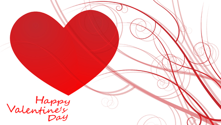 Big Red Hearts, Vector Illustration, valentines day