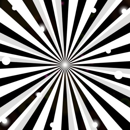 Black and white stripes background.