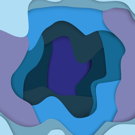 voluminous: Abstract background. Deepening voluminous objects, from wavy colored lines