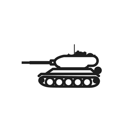 icon on white background isolated object abstract tank icon, panzer