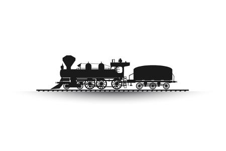 Ferrocarril, tren backgroud abstracto icono blanco, texto Ilustración de vector