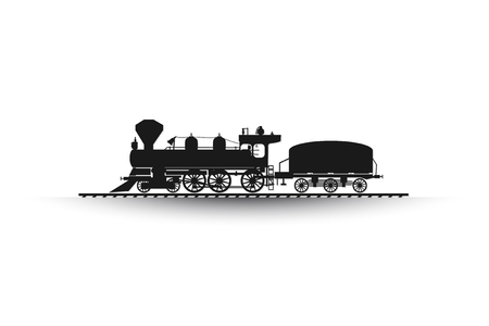 Railroad, train abstract backgroud icon white, text