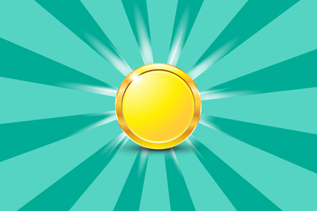 Isolated object abstract coin