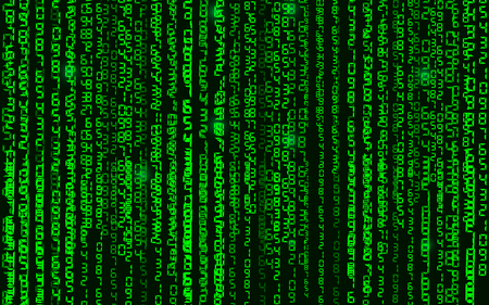 binary code background abstract vector room matrix 矢量图像