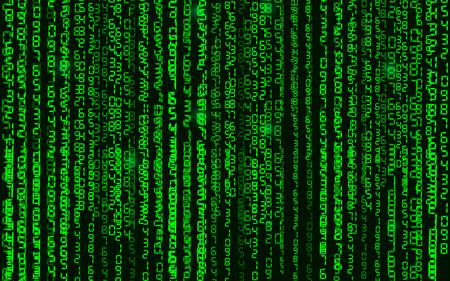 fond de code binaire matrice de la salle des vecteurs abstraits