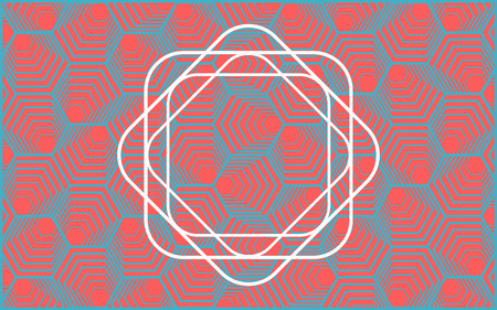 Vector modern geometry pattern hexagon