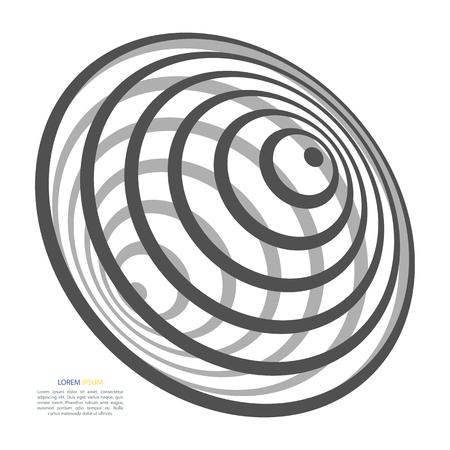 抽象的な背景の円ジェットバス、黒と白で、ブラック ホールの形で  イラスト・ベクター素材