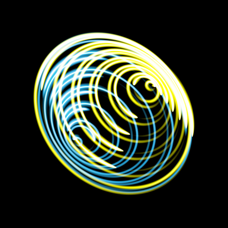 Abstract design of circles in the form of a whirlpool,
